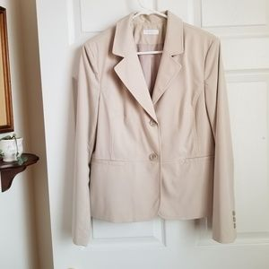 😎 Charter Club tan blazer jacket - size 10